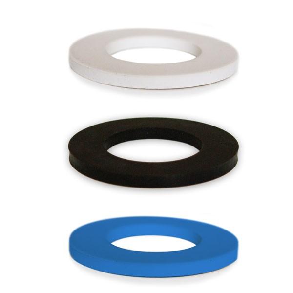 soulbottles Dichtungen 3er Pack schwarz, blau, weiß